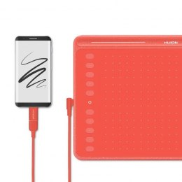HUION Tablet graficzny Huion HS611 Red