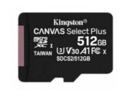 Kingston Karta pamięci microSD 512GB Canvas Select Plus 100/85MB/s